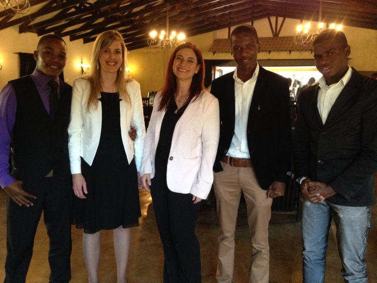 Tshepo Seshai - TUT, Illeze Wessels - UP Madeleen Engelbrecht, Siyabonga Dladla - TUT and Ebenezer Dabana - TUT